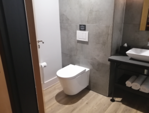Cisternless Toilet Installation at Hotel